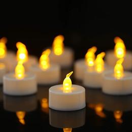 âmbar luzes led flash Desconto Tealight piscando sem chama Led vela, longa vida útil da bateria, aniversário, dedicação, casamento, âmbar, festa natalícia atmosfera luzes