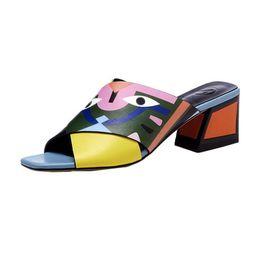 2019 sandali confortevoli con tacco alto Scarpe da donna di stampa di moda sexy partito Peep Sandals Estate alta qualità confortevole scarpe stampa modello tipo maggio 27 sconti sandali confortevoli con tacco alto