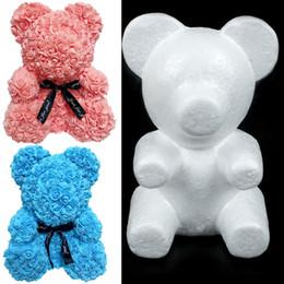 Coração Modelagem Poliestireno isopor espuma Urso Coelho presentes modelagem DIY Natal Valentine Branco Poliestireno Flor de Fornecedores de bons brinquedos baratos