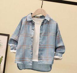 2019 Nouveaux enfants de la mode d'été Grand motif rayé col en V T-shirt Cardigan étudiants garçon et fille vêtements Automne manteau ? partir de fabricateur