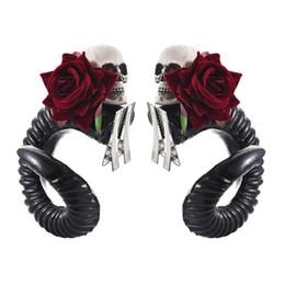 клип лолита Скидка Девушки Клипы Street Fashion стимпанк Devil Horns Косплей сна Стиль Gothic Lolita RAM волос Головные уборы Аксессуары для женщин