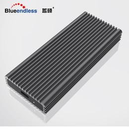 Blueendless NVME M.2 ssd kılıfları tip-c portu yüksek hızlı iletim sabit disk muhafaza ısı dağılımı siyah alüminyum ssd cheap black hard drive enclosure nereden siyah sabit disk muhafazası tedarikçiler