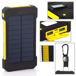 bateria de energia solar portátil Desconto Banco de Energia Solar Dupla USB Power Bank 20000 mAh Bateria Externa Carregador Portátil Bateria Externa Pacote para o telefone Móvel