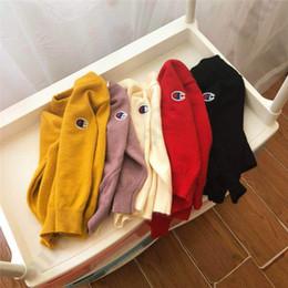 Sudaderas para niños online-Campeón de los niños suéteres de punto de diseño de lujo Conejo Niños sudadera Otoño Invierno sudaderas Niños Jersey de punto suéter de la ropa C82606