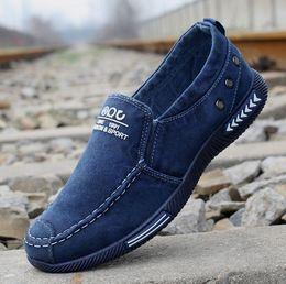 Männer gute marken-turnschuhe online-NON-Marke gute Qualität Grau Blau Loafer Low Cut Brown Men Casual Schuhe bequem Günstige atmungsaktive Frauen Männer Sportschuh Turnschuhe 38-46