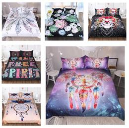 2019 juegos de ropa de cama de diseñador Conjuntos de ropa de cama de lujo de diseño Rey Juego de cama de lujo Unicornio de fútbol 3D Edredones Cubierta Doble Doble Juego de funda nórdica Queen Juego de cama Bohemia juegos de ropa de cama de diseñador baratos