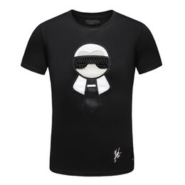 Moda Casual Camiseta de Los Hombres Streetwear Diseñador de Lujo T Shirts Para Hombre Camisetas Camisetas Bordado de Los Hombres Tops de Manga Corta Camisetas 3XL desde fabricantes