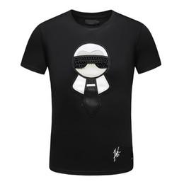 2019 immagini luminose Moda Casual T Shirt Uomo Streetwear Luxury Designer T Shirt Per Uomo Tee Shirts Lettera Ricamo Uomini Top Maniche Corte Tshirts 3XL
