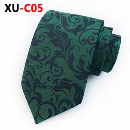 Rouleaux de soie en Ligne-2019 Nouvelle Cravate En Soie Jacquard 8cm VIOLET Barocco Scroll Cravate Mâle Accessoires De Mode