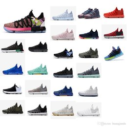 d9834648eba8 Cheap new 2018 Mens KD 10 X low cut basketball shoes MVP Floral Maxes Zoom  Air Kevin Durant KD10 sneakers tennis with original box for sale kevin  durant ...