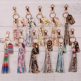Популярные брелки онлайн-Free Key Holder DHL 201910 Мода кисточки брелок Кожа PU Печатного Keychains Популярного Keyrings Женщины Сумка Подвеска автомобиля 11 Стилей M775F