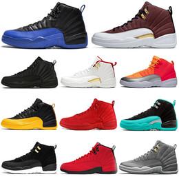 2019 scarpe da pallacanestro 2020 12 12s uomini scarpe da basket Gioco Reale palla Hot Punch palestra rosso nero bianco Università oro Bulls outdoor mens formatori scarpe sportive scarpe da pallacanestro economici