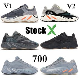 Adidas Yeezy Boost 700 Utility Black Kanye West Herren Damen Laufschuhe Geode Static Mauve Athletic Inertia OG Wellenläufer Solid Grey Sports Sneakers