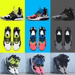 Camouflage laufschuhe online-2019 Neue ACRONYM X Presto Mid V2 Herren Laufschuhe Racer Pink Cool Grey Darts Street Designer Training Turnschuhe Camouflage Graffiti Schuhe