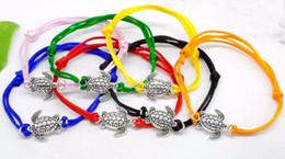 Sea Turtles Red String Braccialetto regolabile Lucky Red Braided Bracciale Bangle 50pcs Bracciali per donna Handcraft Accessories cheap handcraft bracelets da braccialetti artigianali fornitori