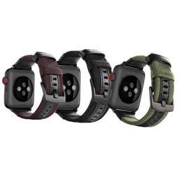 iwatch étanche Promotion Bracelet en nylon imperméable de qualité supérieure pour la montre Apple series 4/3/2/1 Bracelet en cuir pour iwatch 38MM 40MM 42MM 44MM