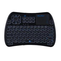ipazzport teclado Desconto iPazzPort 2.4G Controle Remoto IR Teclado Sem Fio com Touch Pad Retroiluminado