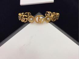 Personifizieren silberne armbänder online-Personalisierte Armband 2019 neue europäische und amerikanische Retro-Frauen goldenes Armband personalisierte