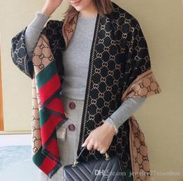 tartán bufanda de doble cara Rebajas Moda Otoño e invierno Diseño de cachemira Marca de mujer Plaid Bufanda de doble cara Chal cálido y grueso Caliente vendido