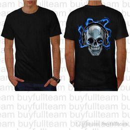 Reiterhemden online-Easy Rider Motorrad-Schädel-Baumwoll-T-Shirt der Männer schwarze kurze Ärmel Tops Mode-Rundhalsausschnitt T Shirt Größe S M L XL 2XL 3XL