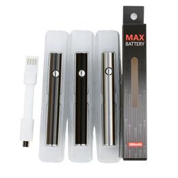 ego t clearomizers Promotion Batterie Amma Max de préchauffage d'origine 380mAh à tension variable VV de charge inférieure 510 pour la cartouche de cartouche d'huile Liberty V9 authentique