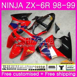 1999 kawasaki zx6r scarpe rosse Sconti Bodys per KAWASAKI NINJA ZX-6R ZX 6 R ZX6 R ZX-636 ZX600 98 99 60HM.0 600CC ZX636 ZX6R 98 99 ZX 636 ZX 6R 1998 1999 Fabbrica di carenature rosso