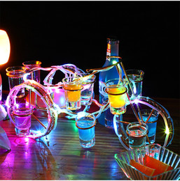 cremalheira Europeia vinho do estilo bicicleta definir recarregável LED luminoso Beer suporte para garrafa de vinho incandescência da cremalheira Champagne Cocktail de