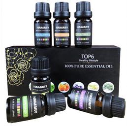 massaggio oliato Sconti 6 PZ Olio Essenziale Set Aroma Naturale Puro Pianta Aromaterapia terapeutica Diffusore Umidificatore Massaggio Idrosolubile Olio Essenziale