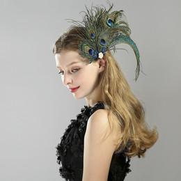 perles en perles Promotion Années 1920 gatsby vintage femmes accessoires de cheveux de plume de paon perlé paillettes bandeaux diadèmes perle bandeaux années 1920 Gatsby Party Headpiece