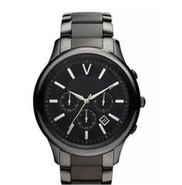 Relógio de alta Qualidade Cerâmica AR1410 AR1410 AR1410 AR1411 AR1404 AR1416 AR1417 AR1451 AR1452 AR1453 Quartz Chronograph Mens Watch Mulheres de