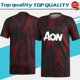 852373bf6 NEW 6 POGBA training Soccer Jersey Black 19 20 Training jerseys short  sleeve Soccer Jerseys Pre-match Shirt Adult Football Uniforms On sale