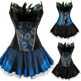 35da08370e Sexy Women Feather Peacock Princess Women s Underwear Slimming Body Cosplay  Showgirl dance tutu skirt Bustiers Corsets Shaper wear Plus Size