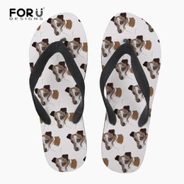 Other Forudesigns White Slipper For Mans Summer Casual Flipflops Animal Dog Jack Russell Terrier Prints Male Rubber Beach Flip Flops
