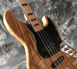 guitare électrique couleur bois Promotion Livraison gratuite récent de haute qualité 4 cordes jazz main Guitare basse électrique, couleur bois naturel guitares électriques photo guitarra.real