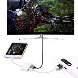 Câble hdmi hd en Ligne-Câble HDMI connecteur 8 broches vers adaptateur AV numérique lightning vers HDMI téléphone mobile avec écran câble HD pour Iphone7 8 X XS XR au convertisseur hdmi