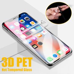 Canada Film de protection souple en PET pour couverture complète 3D Film souple pour iPhone XS Max XR X 8 7 6S Plus Huawei P30 Compagnon 20 10 Pro (Verre Non Trempé) Offre