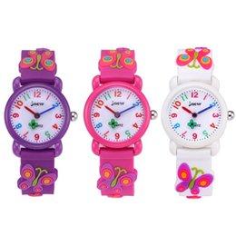 9aa62db9e93 Sílica gel 3D Bonito Meninas Relógio borboleta crianças relógio de quartzo  Moda estudante relógios Crianças À Prova D  Água Relógio A2907 desconto  quartzo ...