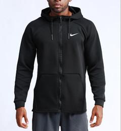 Sportswear ao ar livre on-line-2019 jaqueta de corrida ao ar livre dos homens de treinamento de basquete casual sportswear de mangas compridas com capuz secagem rápida jaqueta de fitness dos homens Clothingd '