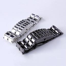 2020 relógio binário de quartzo Venda Dia Moda Criativa presente PR dos homens Binary LED Digital de pulso de quartzo Pai desconto relógio binário de quartzo