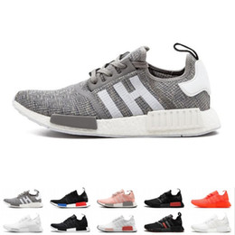 cycle shoes 44 Promo Codes - 2019 new NMD R1 OG Primeknit Running Shoes Classic Triple Red Black Best Quality Men Women Sport Shoes Designer Sneakers Trainers size 36-44
