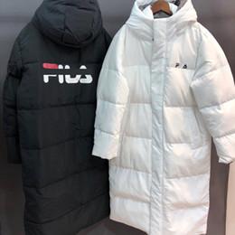 Ropa sencilla de invierno para hombres online-2019 invierno FL hombres chaqueta de plumón marca terciopelo lujo ropa de invierno venta moda pareja cazadora estampado para mujer abrigo con capucha simple