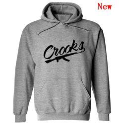 diamant gauner hoodie Rabatt Crooks und kostenloser Versand Hip-Hop-Sweatshirts Winterklage Baumwolle schwitzt für Männer Diamant Hoodie Pullover Schlösser Sweatshirt-WW-1