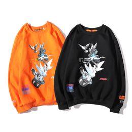 2019 hp alto Mens Marca camisola Rua Designer Sweater HP guindaste mangas compridas Pullover Hoodies Moda Casual Blusa High Top Preto Laranja B101138L hp alto barato
