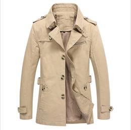 grabenmänner grün Rabatt Außenhandel Herbst Jacke Herren Mantel gewaschen Männer Windjacke koreanischen Hersteller Trenchcoat Männer grün schwarz blau Khaki Jacke