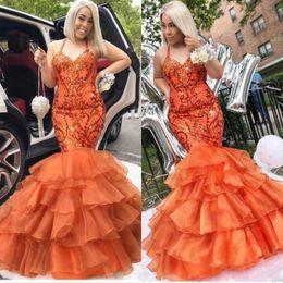 Organza bead vestido de fantasia sirene on-line-Na moda Tiers 2019 Prom Halter Organza Sereia Beads Cristal Africano Pageant Árabe Dubai Formal Longo Vestidos de Festa Vestido de Noite