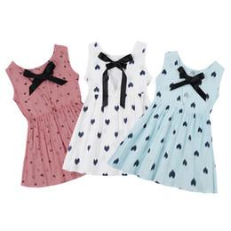 Camicia sleeveless senza schienale online-Abito da principessa per bambini con scollo a V senza maniche senza maniche in cotone con scollo a barchetta in misto cotone