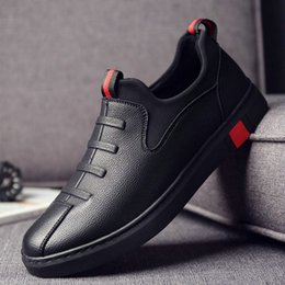 Плоская обувь korea новый онлайн-2019 новинка мужские черные кожаные балетки обувь мужские мокасины обувь корея квартиры вождения лодка мужчины повседневная обувь кроссовки LM-10 # 363466