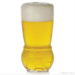 Trasporto libero tazza di calcio 460 ML birra succhi di occhiali mondo trofeo calcio calcio tazza di vetro tazza di vino di festa tazza di vetro bar acclamazioni di vetro da