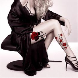 rose tatouage retour Promotion Hot Sexy couleur rouge fleur rose Body Art étanche temporaire Sexy dos tatouages cuisse épaule femme Tatouage autocollants Faux Tatoo