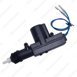 Verriegelungsbetätiger online-Großhandel 2-Draht-Zentralverriegelungssystem Single Gun Zentralverriegelung Stellmotor für jedes Auto Alarmanlage #: 4661